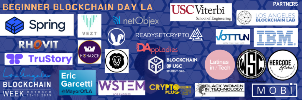 Beginner Blockchain Day LA Sponsors and Partners